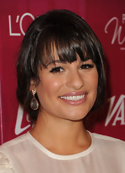At the 'Variety' 3rd Annual Power of Women luncheon, Lea Michele wore an exquisite pair of 18-carat gold-plated mosaic earrings with white cz.