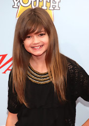 Ciara Bravo styled her hair in a straight cut with bangs for the Power of Youth event.