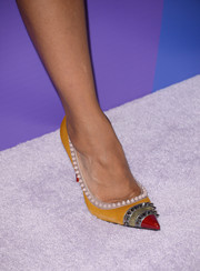 Kerry Washington wore a pair of edgy-sophisticated spiked Christian Louboutin pumps to the Variety Power of Women event.