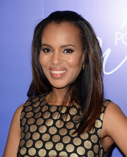 Kerry Washington looked mildly retro with this half-up half-down 'do at the Variety Power of Women event.