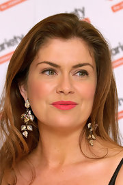 Amanda Lamb attended the Variety Club Annual Dinner wearing a saturated shade of bright watermelon-hued lipstick.