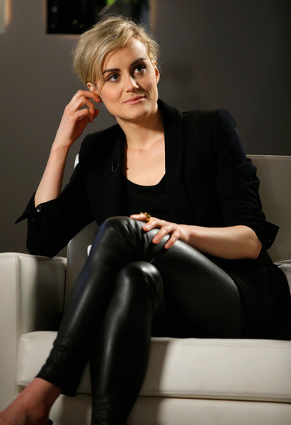 More Pics of Taylor Schilling Leather Pants (1 of 18) - Taylor Schilling Lookbook - StyleBistro [taylor schilling,variety studio actors,actors,hair,clothing,lady,blond,beauty,sitting,tights,leg,fashion,leggings,los angeles,california,variety emmy studio,autograph collection hotels]