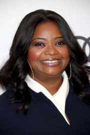 Octavia Spencer styled her hair with spiral waves for Variety's Power of Women event.