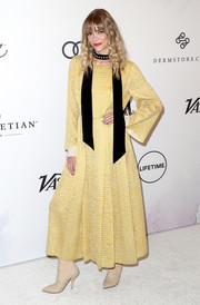 Jaime King chose a yellow tweed maxi dress by Fendi for Variety's Power of Women event.