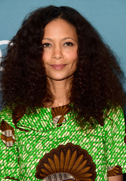 Thandie Newton kept it natural with this curly 'do when she attended Variety's Power of Women luncheon.