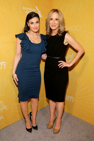 More Pics of Idina Menzel Long Side Part (1 of 12) - Long Side Part Lookbook - StyleBistro