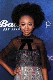 Skai Jackson swept her curls back into a voluminous updo for the Variety Power of Young Hollywood event.