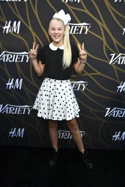 More Pics of JoJo Siwa Loose Blouse (1 of 6) - Tops Lookbook - StyleBistro [fashion,talent show,dress,design,pattern,performance,footwear,premiere,carpet,event,variety power of young hollywood - arrivals,variety power of young hollywood,tao hollywood,los angeles,california,jojo siwa]