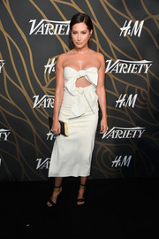 Ashley Tisdale looked foxy in a strapless, knot-detailed cutout dress by Milly at the Variety Power of Young Hollywood event.