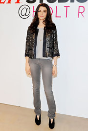 Rachel Weisz simple sparkled in this sequin jacket, which she sported at the Toronto Film Festival.