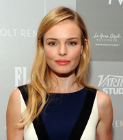 Kate Bosworth wore her hair down with a side part and barely-there waves during her visit to the Variety Studio.