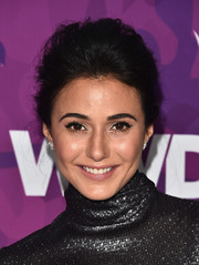 Emmanuelle Chriqui attended the StyleMakers Awards wearing her hair in a teased updo.