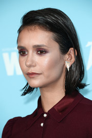 Nina Dobrev rocked a wet-look bob at the Variety and Women in Film pre-Emmy celebration.