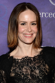 Sarah Paulson kept it simple with this center-parted bob at the Variety and Women in Film Emmy nominee celebration.