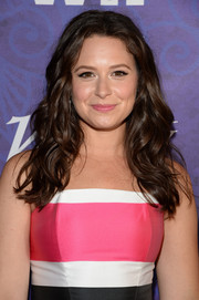 Katie Lowes looked pretty with her long, lush waves at the Variety and Women in Film Emmy nominee celebration.
