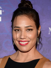 Michaela Conlin pulled her hair up into a cute top knot for the Variety and Women in Film Emmy nominee celebration.
