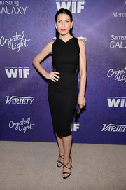Julianna Margulies added an extra dose of sexiness via a pair of black Christian Louboutin strappy sandals.