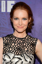 Darby Stanchfield attended the Variety and Women in Film Emmy nominee celebration wearing a pretty side chignon.
