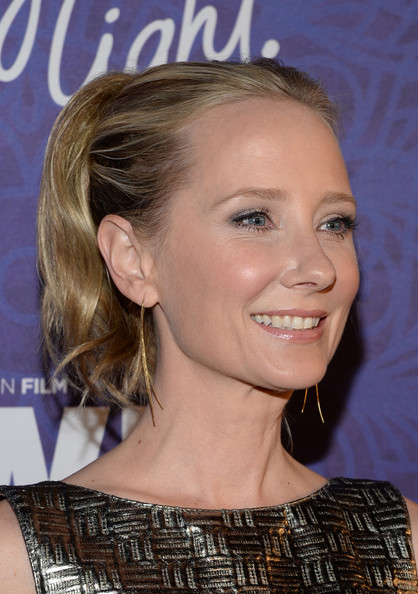 Anne Heche opted for a cute wavy ponytail when she attended the Variety and Women in Film Emmy nominee celebration.