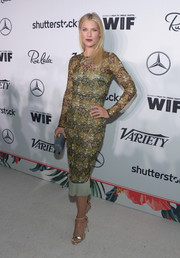 Ali Larter looked flawless in a lace sheath dress by Wes Gordon at the Variety and Women in Film pre-Emmy celebration.