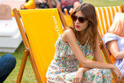 Alexa Chung attend the Veuve Clicquot Gold Cup Final at Cowdray Park Polo Club on July 20, 2014 in Midhurst, England.