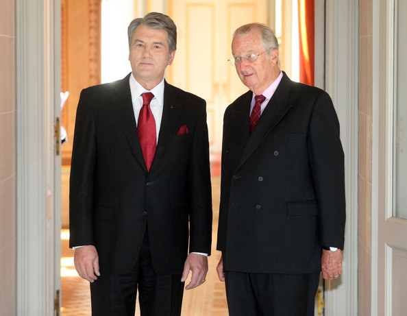 Ukraine President Viktor Yushchenko meets King Albert of Belgium