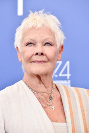 Judi Dench wore her hair in a messy pixie at the Glory to the Filmmaker Award during the 2017 Venice Film Festival.
