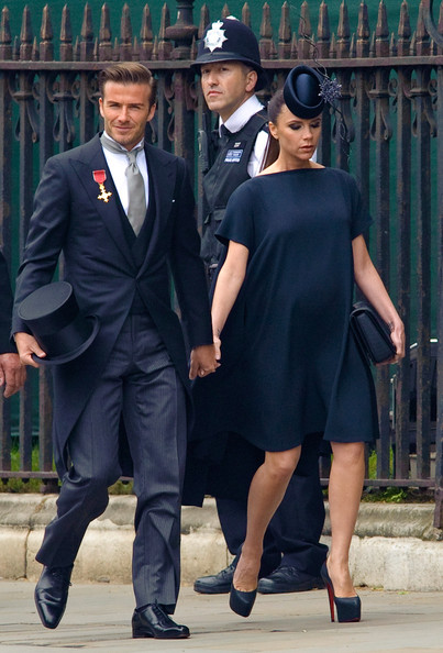 Victoria Beckham Maternity Dress [suit,formal wear,gentleman,fashion,official,tuxedo,uniform,bodyguard,white collar worker,girl,spectacle,guests,victoria beckham,david beckham,guests,archbishop,service,marriage,london,royal wedding 2]