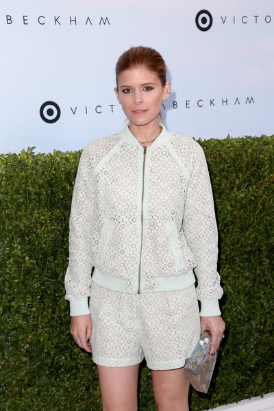 More Pics of Kate Mara Bomber Jacket (5 of 7) - Outerwear Lookbook - StyleBistro [clothing,fashion,outerwear,suit,shorts,fashion design,fashion show,blazer,event,pattern,victoria beckham,kate mara,los angeles,california,target,launch event,target launch event]