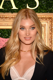 Elsa Hosk looked like a real-life Barbie doll with her long blonde waves during the Victoria's Secret Bralette Collection launch.