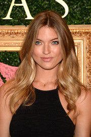 Martha Hunt attended the Victoria's Secret Bralette Collection launch wearing this gorgeous wavy 'do.