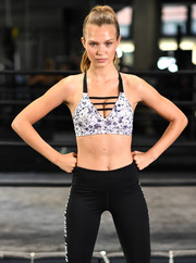 Josephine Skriver attended the Train Like an Angel event wearing a Victoria Sport star-print bra that was equal parts sweet and sexy!