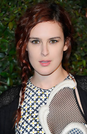 Rumer Willis wore her wavy auburn locks in a simple side braid for the video premiere of 'My Valentine.'