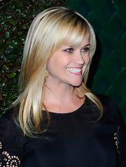 Reese Witherspoon kept her long shiny hair loose and casual for the video premiere of 'My Valentine.'