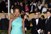 Viola Davis One Shoulder Dress
