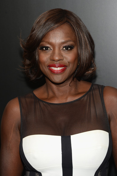 Viola Davis Bob [hair,face,hairstyle,lip,eyebrow,beauty,shoulder,chin,blond,cocktail dress,viola davis,new york city,entertainment weekly,toro,abc upfronts party,abc upfront celebration]