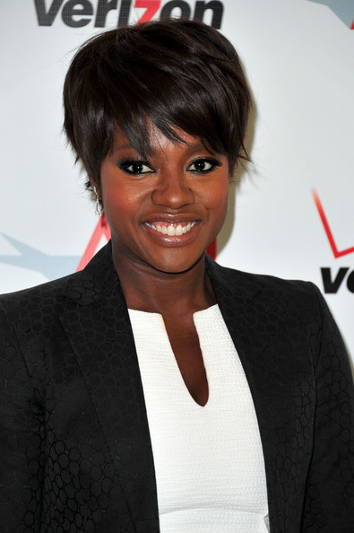 Viola Davis Layered Razor Cut