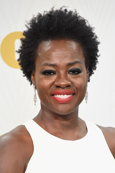 Viola Davis Short Curls [outstanding lead actress in a drama series,how to get away with murder,hair,face,hairstyle,afro,eyebrow,lip,chin,black hair,skin,forehead,viola davis,room,press room,microsoft theater,los angeles,california,primetime emmy awards]