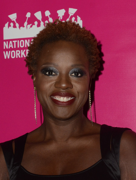 Viola Davis Short Curls [photo,hair,face,hairstyle,pink,eyebrow,beauty,lip,forehead,afro,ringlet,viola davis,cicely tyson in dc,washington dc,national museum of women in the arts,national domestic workers alliance honors]