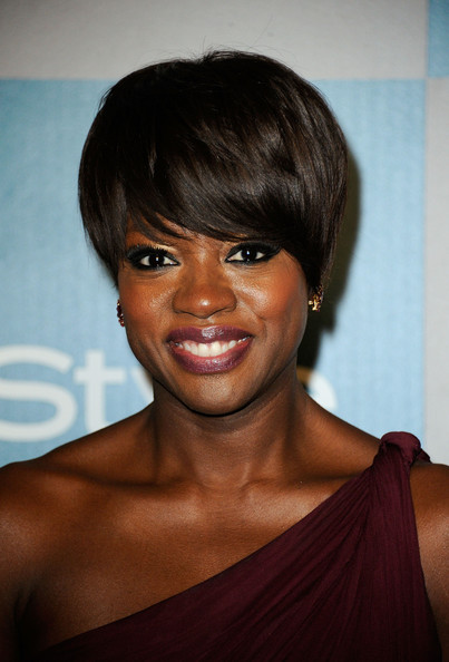 Viola Davis Short Emo Cut [hair,face,hairstyle,eyebrow,chin,bangs,beauty,lip,skin,shoulder,viola davis,instyle golden globe awards,hotel,beverly hills,california,the beverly hilton,warner bros,arrivals,party]