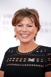 Kate Silverton attended the Virgin TV BAFTA Television Awards wearing a messy-chic short 'do.