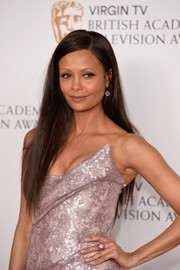 Thandie Newton looked simply elegant wearing this loose straight style at the Virgin TV BAFTA Television Awards.