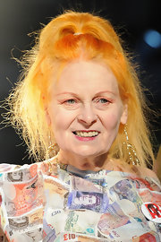 Vivienne Westwood rocked an edgy high ponytail at her Fall 2012 fashion show.