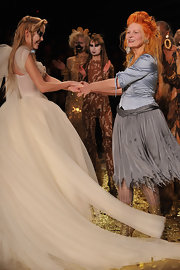 Vivienne Westwood's silver skirt at her Fall 2012 fashion show was fun and flirty.