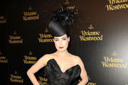 Model Dita Von Teese   arrives at the Vivienne Westwood store opening party on Melrose March 30, 2011 in Los Angeles, California.