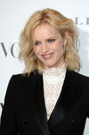 Eva Herzigova rocked mussed-up hair at the Vogue 100: A Century of Style event.