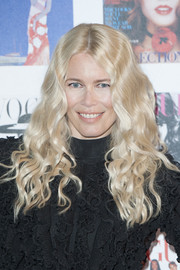 Claudia Schiffer looked like a doll with her long blonde curls at the Vogue 100 Festival Gala.