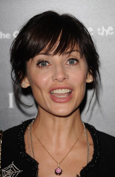 Natalie Imbruglia attended the Vogue/Bulgari charity reception wearing her hair in a messy-glam updo.