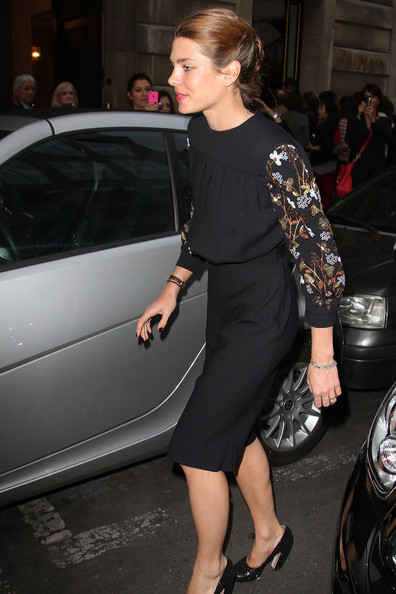 More Pics of Charlotte Casiraghi Bobby Pinned Updo (1 of 9) - Updos Lookbook - StyleBistro