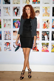 Tamsin Egerton donned an LBD at the Vogue Festival 2012 party.